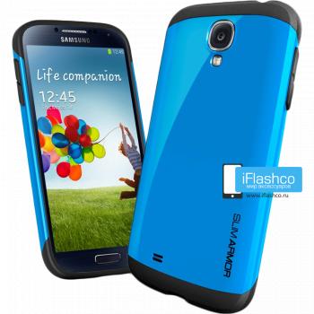 Чехол Spigen Slim Armor для Samsung Galaxy S4 синий