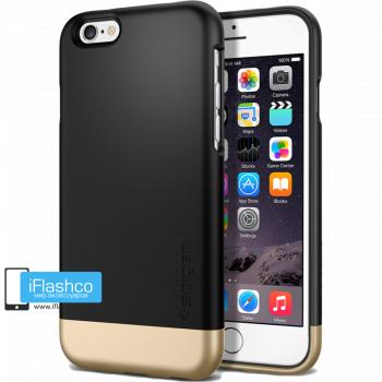 Чехол Spigen Style Armor Smooth Black для iPhone 6 / 6s