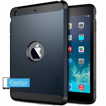 Чехол Spigen Tough Armor Metal Slate для iPad Air синий