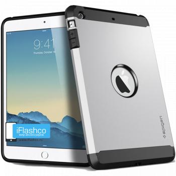 Чехол Spigen Tough Armor Satin Silver для iPad Air серебристый