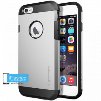 Чехол Spigen Tough Armor Satin Silver для iPhone 6 / 6s