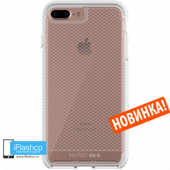 Чехол tech21 Evo Check для iPhone 7 Plus / 8 Plus CLEAR/WHITE