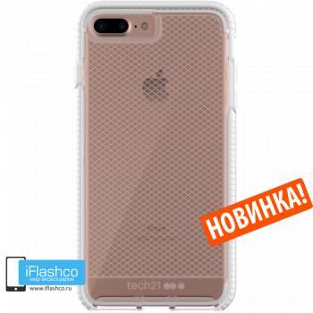 Чехол tech21 Evo Check для iPhone 7 Plus / 8 Plus CLEAR/WHITE