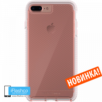 Чехол tech21 Evo Check для iPhone 7 Plus / 8 Plus ROSE TINT/WHITE