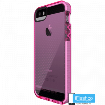 Чехол tech21 Evo Mesh для iPhone 5 / 5s / SE PINK/WHITE