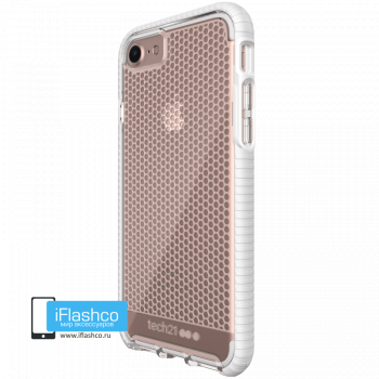 Чехол tech21 Evo Mesh для iPhone 7/8/SE Clear/White
