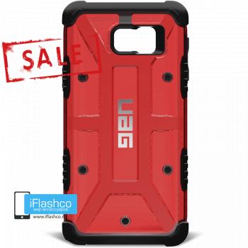 Чехол Urban Armor Gear Magma для Samsung Galaxy Note 5 красный прозрачный