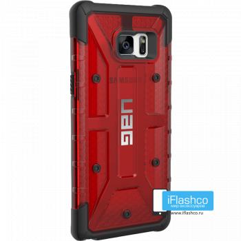 Чехол Urban Armor Gear Magma для Samsung Galaxy Note 7 красный прозрачный