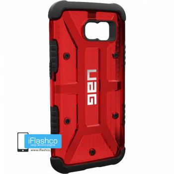 Чехол Urban Armor Gear Magma для Samsung Galaxy S6 красный прозрачный