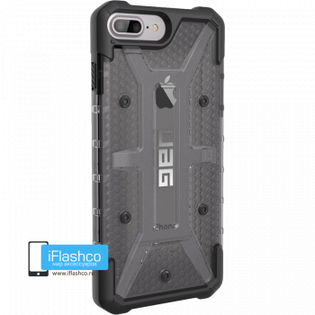 Чехол Urban Armor Gear Plasma Ash для iPhone 7 Plus / 8 Plus черный прозрачный