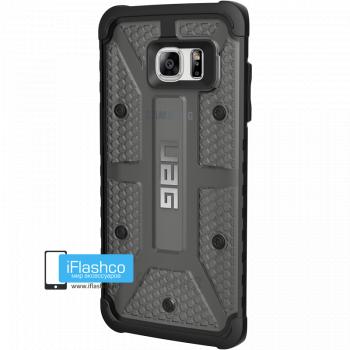 Чехол Urban Armor Gear Plasma Ash для Samsung Galaxy S7 Edge черный прозрачный