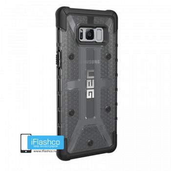 Чехол Urban Armor Gear Plasma Ash для Samsung Galaxy S8+ черный прозрачный