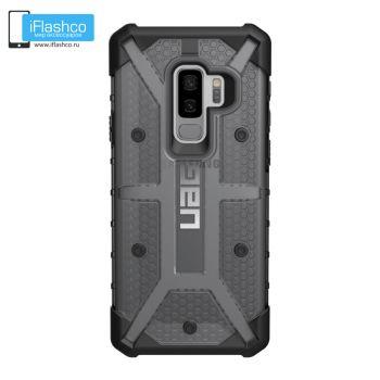 Чехол Urban Armor Gear Plasma Ash для Samsung Galaxy S9+ черный прозрачный