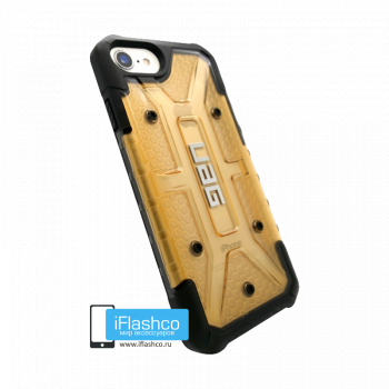 Чехол Urban Armor Gear Plasma Beige для iPhone 7/8/SE бежевый прозрачный