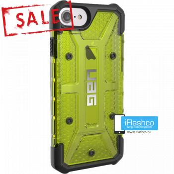 Чехол Urban Armor Gear Plasma Citron для iPhone 7 / 8 зеленый прозрачный