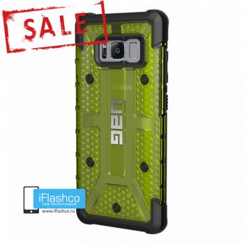 Чехол Urban Armor Gear Plasma Citron для Samsung Galaxy S8 зеленый прозрачный