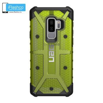 Чехол Urban Armor Gear Plasma Citron для Samsung Galaxy S9+ зеленый прозрачный