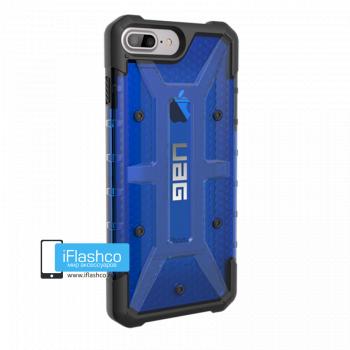 Чехол Urban Armor Gear Plasma Cobalt для iPhone 7 Plus / 8 Plus синий прозрачный