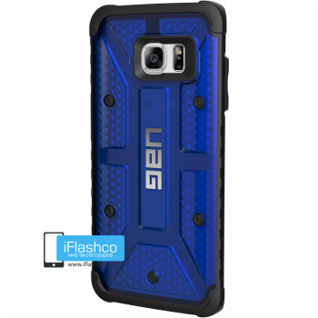 Чехол Urban Armor Gear Plasma Cobalt для Samsung Galaxy S7 Edge синий прозрачный