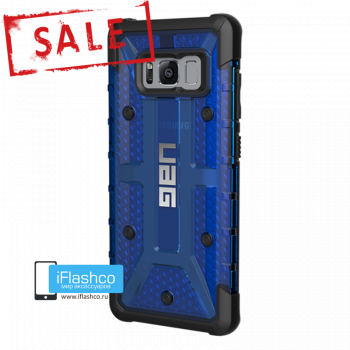 Чехол Urban Armor Gear Plasma Cobalt для Samsung Galaxy S8 синий прозрачный
