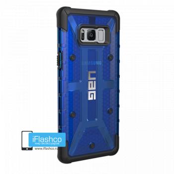 Чехол Urban Armor Gear Plasma Cobalt для Samsung Galaxy S8+ синий прозрачный