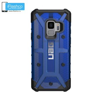 Чехол Urban Armor Gear Plasma Cobalt для Samsung Galaxy S9 синий прозрачный