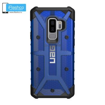 Чехол Urban Armor Gear Plasma Cobalt для Samsung Galaxy S9+ синий прозрачный