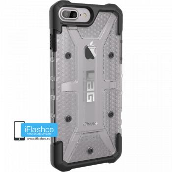 Чехол Urban Armor Gear Plasma Ice для iPhone 7 Plus / 8 Plus серый прозрачный