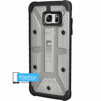Чехол Urban Armor Gear Plasma Ice для Samsung Galaxy S7 Edge серый прозрачный
