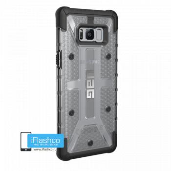 Чехол Urban Armor Gear Plasma Ice для Samsung Galaxy S8+ серый прозрачный
