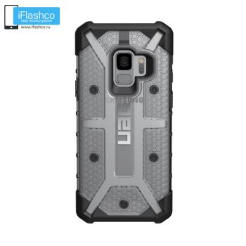 Чехол Urban Armor Gear Plasma Ice для Samsung Galaxy S9 серый прозрачный