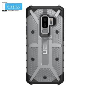 Чехол Urban Armor Gear Plasma Ice для Samsung Galaxy S9+ серый прозрачный