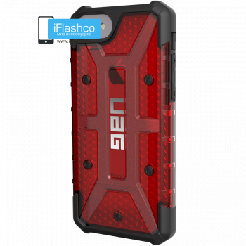 Чехол Urban Armor Gear Plasma Magma для iPhone 7 Plus / 8 Plus красный прозрачный
