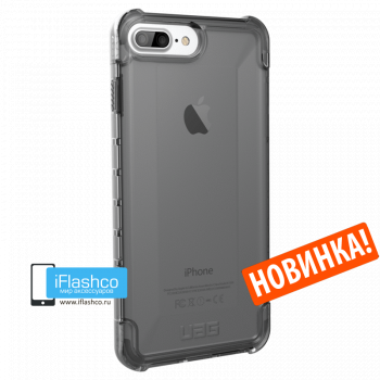 Чехол Urban Armor Gear Plyo Ash для iPhone 7 Plus / 8 Plus черный прозрачный