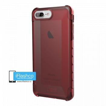 Чехол Urban Armor Gear Plyo Crimson для iPhone 6 Plus / 6s Plus красный прозрачный