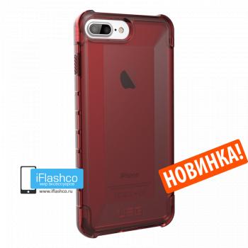 Чехол Urban Armor Gear Plyo Crimson для iPhone 7 Plus / 8 Plus красный прозрачный