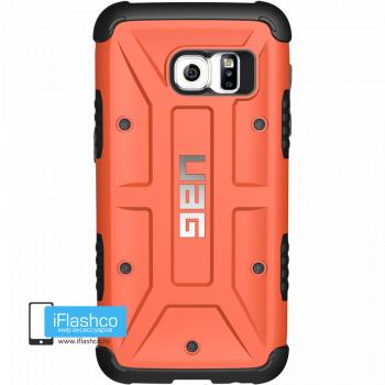 Чехол Urban Armor Gear Rust для Samsung Galaxy S7 Edge оранжевый