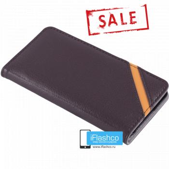 Чехол Vins Book для iPhone 6 коричневый с полосой