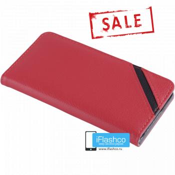 Чехол Vins Book для iPhone 6 красный с полосой