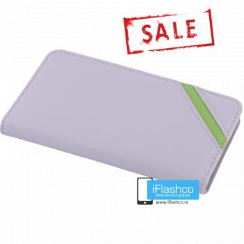 Чехол Vins Book для iPhone 6 серый с полосой