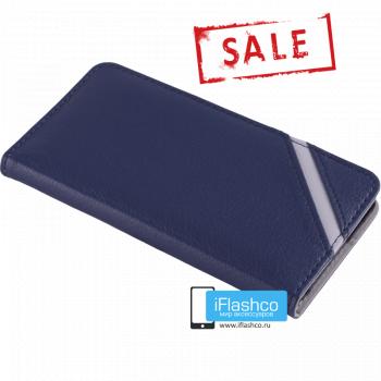 Чехол Vins Book для iPhone 6 синий с полосой