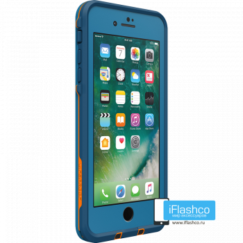 Чехол водонепроницаемый Lifeproof fre для iPhone 7 Plus / 8 Plus Base Camp Blue