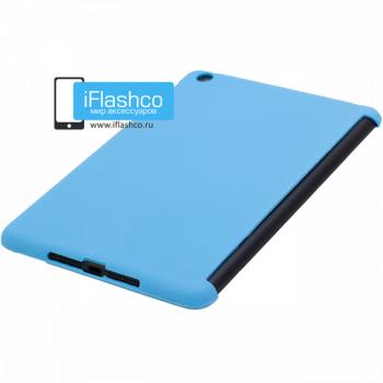 Чехол задний Back Cover для iPad mini / mini 2 / mini 3 голубой (полиуретан)