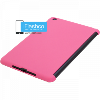 Чехол задний Back Cover для iPad mini / mini 2/ mini 3 розовый (полиуретан)