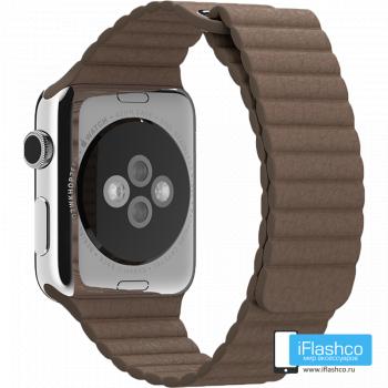 Кожаный ремешок Apple Leather Loop Brown для Apple Watch 42 - 44 мм коричневый