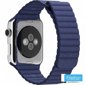 Кожаный ремешок Apple Leather Loop Midnight Blue для Apple Watch 42 - 44 мм темно-синий