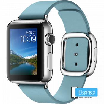 Кожаный ремешок Apple Modern Buckle Blue для Apple Watch 38 - 40 мм голубой