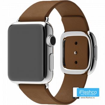 Кожаный ремешок Apple Modern Buckle Brown для Apple Watch 38 - 40 мм коричневый