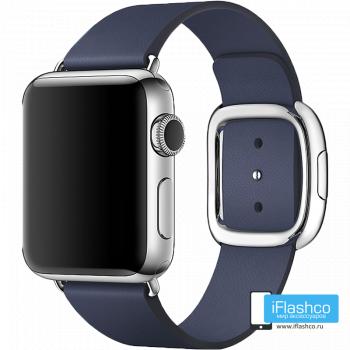 Кожаный ремешок Apple Modern Buckle Midnight Blue для Apple Watch 38 - 40 мм синий
