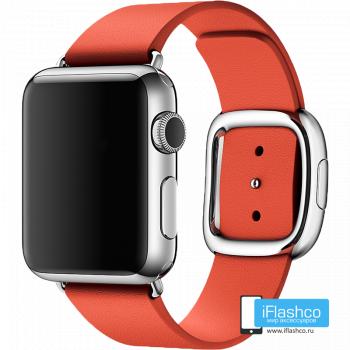 Кожаный ремешок Apple Modern Buckle Orange для Apple Watch 38 - 40 мм оранжевый
